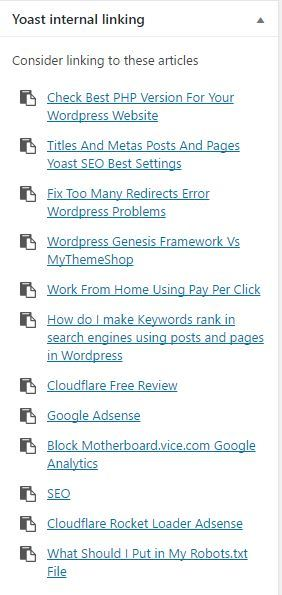 Be Careful How You Use Yoast Internal Linking Suggestions