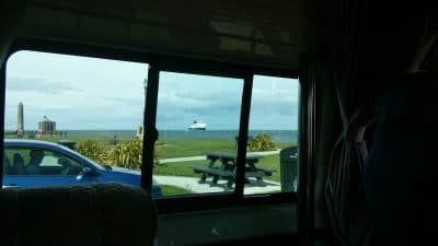 work from home or from a campervan anywhere larne cairnryan ferry boat